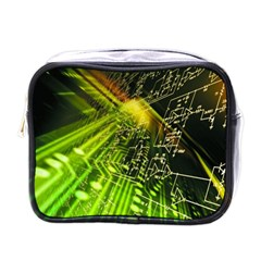 Electronics Machine Technology Circuit Electronic Computer Technics Detail Psychedelic Abstract Pattern Mini Toiletries Bags