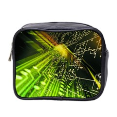 Electronics Machine Technology Circuit Electronic Computer Technics Detail Psychedelic Abstract Pattern Mini Toiletries Bag 2-Side