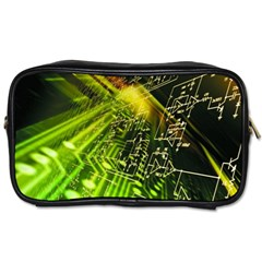 Electronics Machine Technology Circuit Electronic Computer Technics Detail Psychedelic Abstract Pattern Toiletries Bags