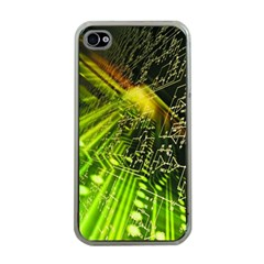 Electronics Machine Technology Circuit Electronic Computer Technics Detail Psychedelic Abstract Pattern Apple iPhone 4 Case (Clear)