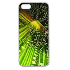 Electronics Machine Technology Circuit Electronic Computer Technics Detail Psychedelic Abstract Pattern Apple Seamless iPhone 5 Case (Clear)