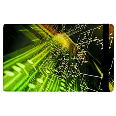 Electronics Machine Technology Circuit Electronic Computer Technics Detail Psychedelic Abstract Pattern Apple iPad 2 Flip Case