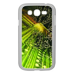 Electronics Machine Technology Circuit Electronic Computer Technics Detail Psychedelic Abstract Pattern Samsung Galaxy Grand DUOS I9082 Case (White)