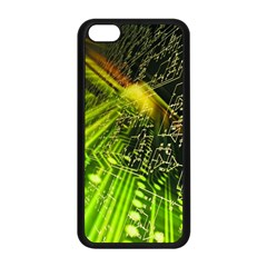 Electronics Machine Technology Circuit Electronic Computer Technics Detail Psychedelic Abstract Pattern Apple iPhone 5C Seamless Case (Black)