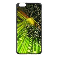 Electronics Machine Technology Circuit Electronic Computer Technics Detail Psychedelic Abstract Pattern Apple iPhone 6 Plus/6S Plus Black Enamel Case