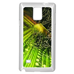 Electronics Machine Technology Circuit Electronic Computer Technics Detail Psychedelic Abstract Pattern Samsung Galaxy Note 4 Case (White)