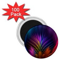 Colored Rays Symmetry Feather Art 1.75  Magnets (100 pack)