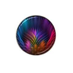 Colored Rays Symmetry Feather Art Hat Clip Ball Marker (4 pack)