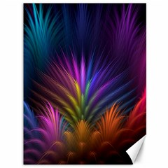 Colored Rays Symmetry Feather Art Canvas 36  x 48
