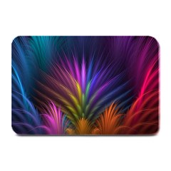 Colored Rays Symmetry Feather Art Plate Mats