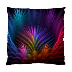 Colored Rays Symmetry Feather Art Standard Cushion Case (One Side)