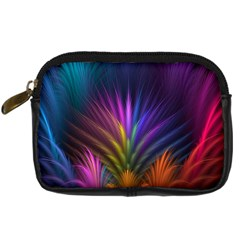Colored Rays Symmetry Feather Art Digital Camera Cases