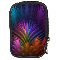 Colored Rays Symmetry Feather Art Compact Camera Cases