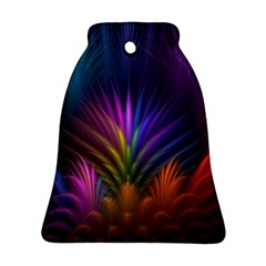 Colored Rays Symmetry Feather Art Ornament (Bell)