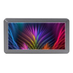 Colored Rays Symmetry Feather Art Memory Card Reader (Mini)