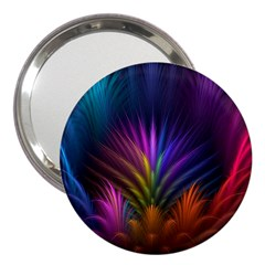 Colored Rays Symmetry Feather Art 3  Handbag Mirrors