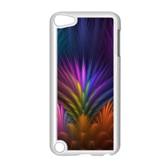 Colored Rays Symmetry Feather Art Apple iPod Touch 5 Case (White)
