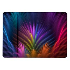 Colored Rays Symmetry Feather Art Samsung Galaxy Tab 10.1  P7500 Flip Case