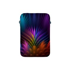 Colored Rays Symmetry Feather Art Apple iPad Mini Protective Soft Cases