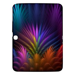 Colored Rays Symmetry Feather Art Samsung Galaxy Tab 3 (10.1 ) P5200 Hardshell Case