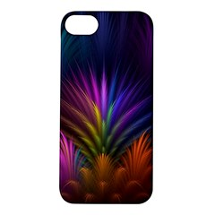 Colored Rays Symmetry Feather Art Apple iPhone 5S/ SE Hardshell Case