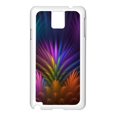 Colored Rays Symmetry Feather Art Samsung Galaxy Note 3 N9005 Case (White)