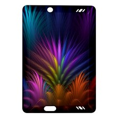 Colored Rays Symmetry Feather Art Amazon Kindle Fire HD (2013) Hardshell Case