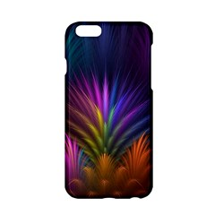 Colored Rays Symmetry Feather Art Apple iPhone 6/6S Hardshell Case