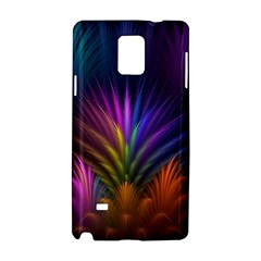 Colored Rays Symmetry Feather Art Samsung Galaxy Note 4 Hardshell Case