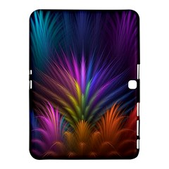 Colored Rays Symmetry Feather Art Samsung Galaxy Tab 4 (10.1 ) Hardshell Case