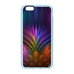 Colored Rays Symmetry Feather Art Apple Seamless iPhone 6/6S Case (Color)
