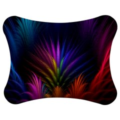 Colored Rays Symmetry Feather Art Jigsaw Puzzle Photo Stand (Bow)