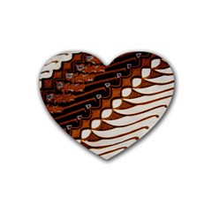 Traditional Batik Sarong Heart Coaster (4 pack)