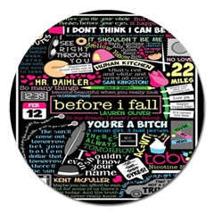 Book Collage For Before I Fall Magnet 5  (Round)