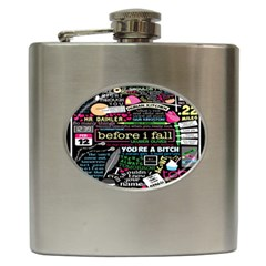 Book Collage For Before I Fall Hip Flask (6 oz)