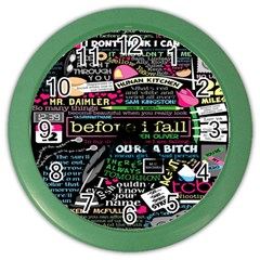 Book Collage For Before I Fall Color Wall Clocks