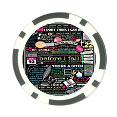 Book Collage For Before I Fall Poker Chip Card Guard