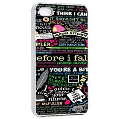 Book Collage For Before I Fall Apple iPhone 4/4s Seamless Case (White)