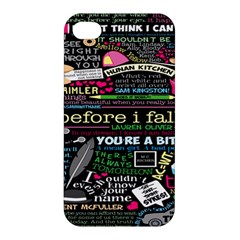 Book Collage For Before I Fall Apple iPhone 4/4S Hardshell Case