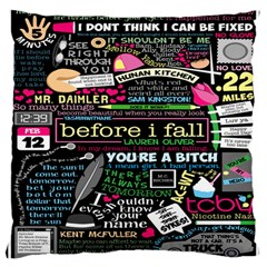 Book Collage For Before I Fall Large Cushion Case (One Side)