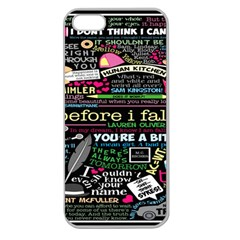 Book Collage For Before I Fall Apple Seamless iPhone 5 Case (Clear)