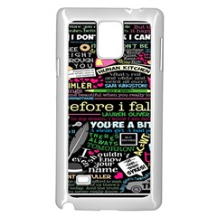 Book Collage For Before I Fall Samsung Galaxy Note 4 Case (White)