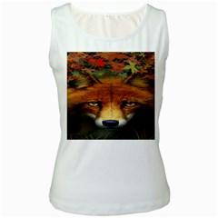 Fox Women s White Tank Top