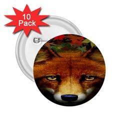 Fox 2.25  Buttons (10 pack)