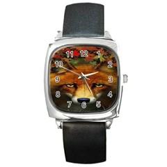 Fox Square Metal Watch