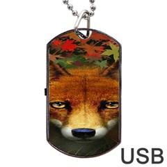 Fox Dog Tag USB Flash (One Side)