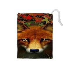 Fox Drawstring Pouches (Medium)