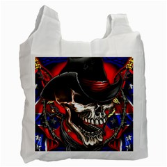 Confederate Flag Usa America United States Csa Civil War Rebel Dixie Military Poster Skull Recycle Bag (One Side)