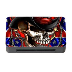 Confederate Flag Usa America United States Csa Civil War Rebel Dixie Military Poster Skull Memory Card Reader with CF
