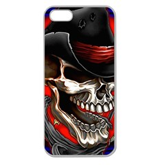 Confederate Flag Usa America United States Csa Civil War Rebel Dixie Military Poster Skull Apple Seamless iPhone 5 Case (Clear)